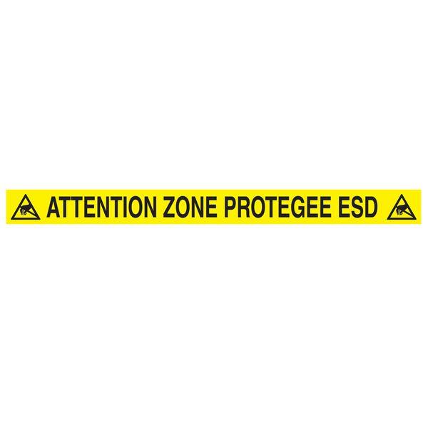 Autocollant au sol Zone Protégée ESD (photo)