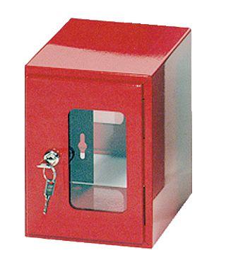 Boîte sous verre dormant avec fermeture à clé