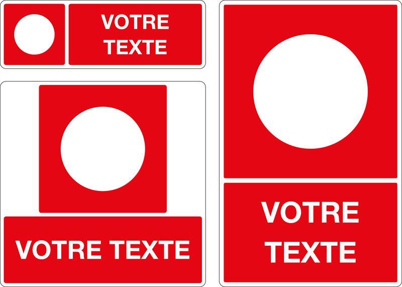 Panneau personnalisé Baies accessibles pompiers (photo)