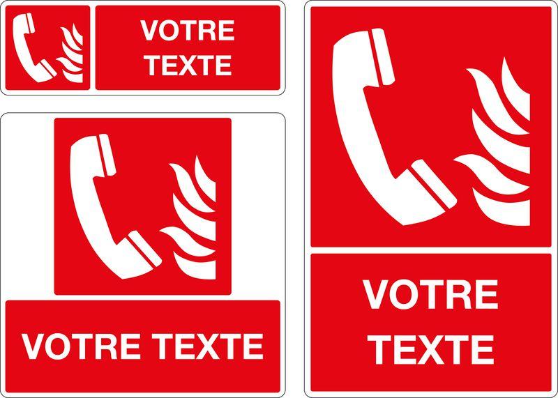 Panneau personnalisé Téléphone incendie