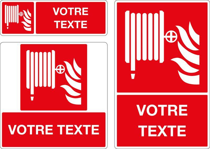 Panneau avec pictogramme RIA et texte personnalisé (photo)