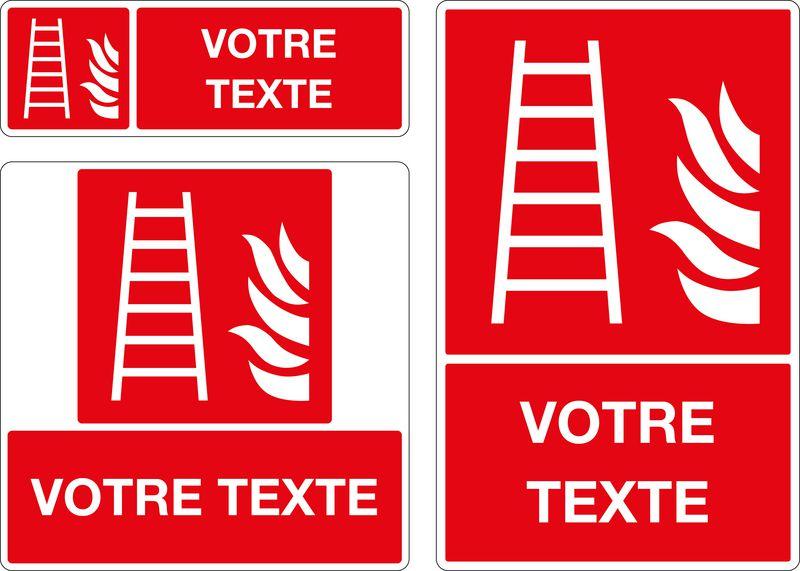 Panneau personnalisé Echelle incendie (photo)