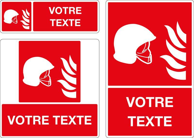 Panneau personnalisé Equipement incendie (photo)