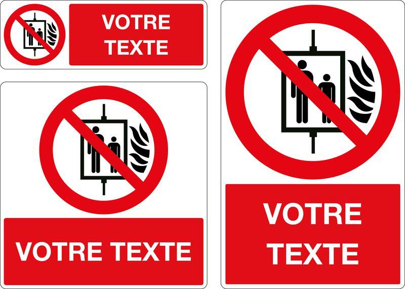 Panneau personnalisé Ne pas utiliser l'ascenseur