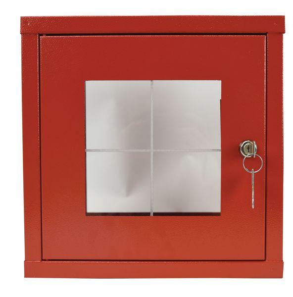 Boîte sous verre dormant avec fermeture par clé (photo)