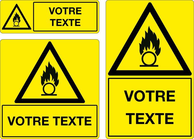 Panneau personnalisé Matières comburantes (photo)