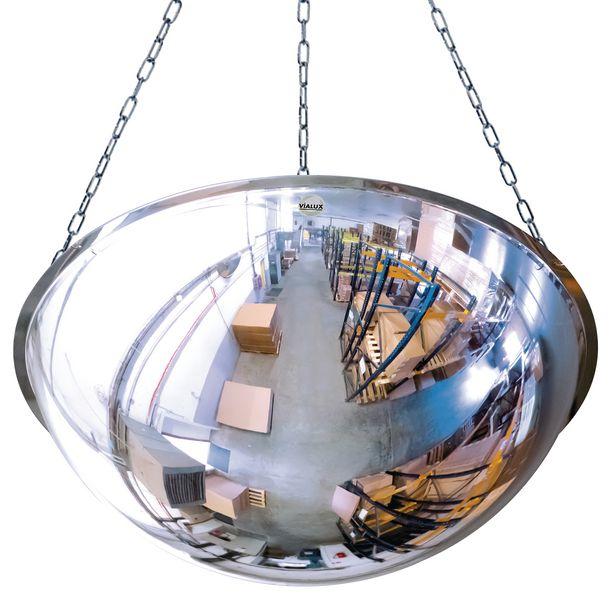 Miroir 1/2 sphère horizontale avec perçage (photo)