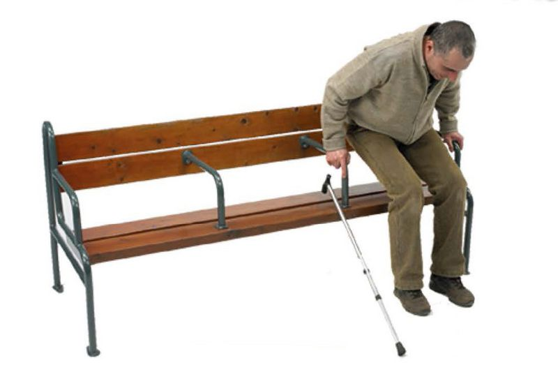 Banc Grand confort avec accoudoirs