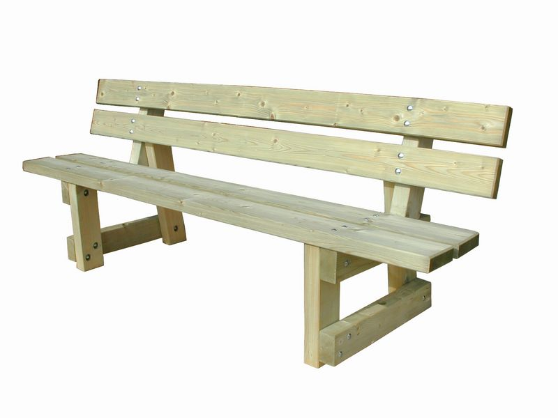 Banc Lagune grand confort tout en bois (photo)