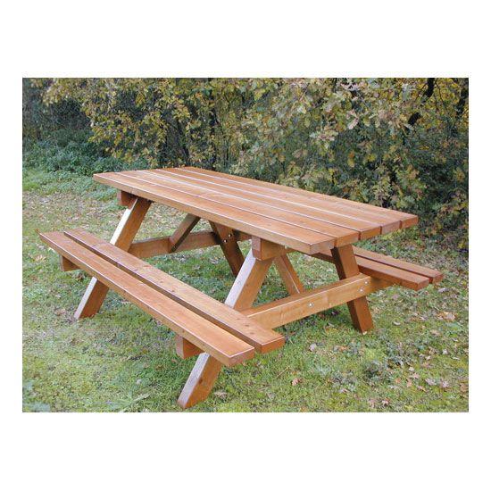 Table Enfant- Jura Bois résineux Naturel ou Acajou 120 (photo)