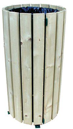 Corbeille ronde Bois résineux avec ou sans couvercle