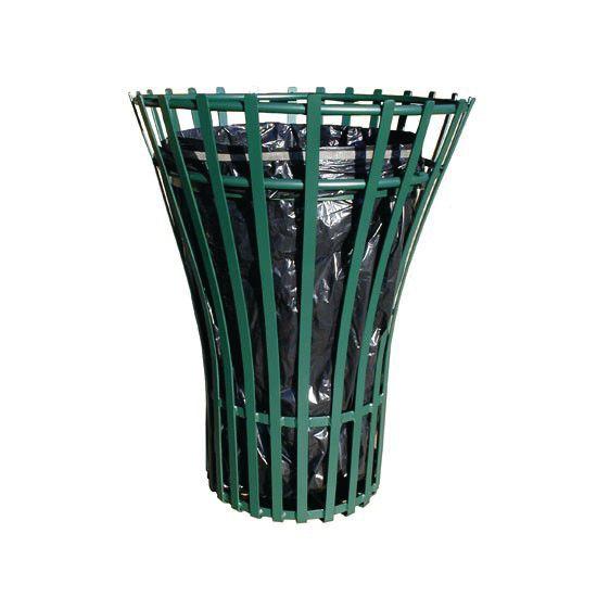 Corbeille Acier Laque Vert 100L
