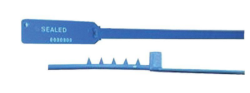 Scellé à serrage progressif perso tige crantée plate (photo)