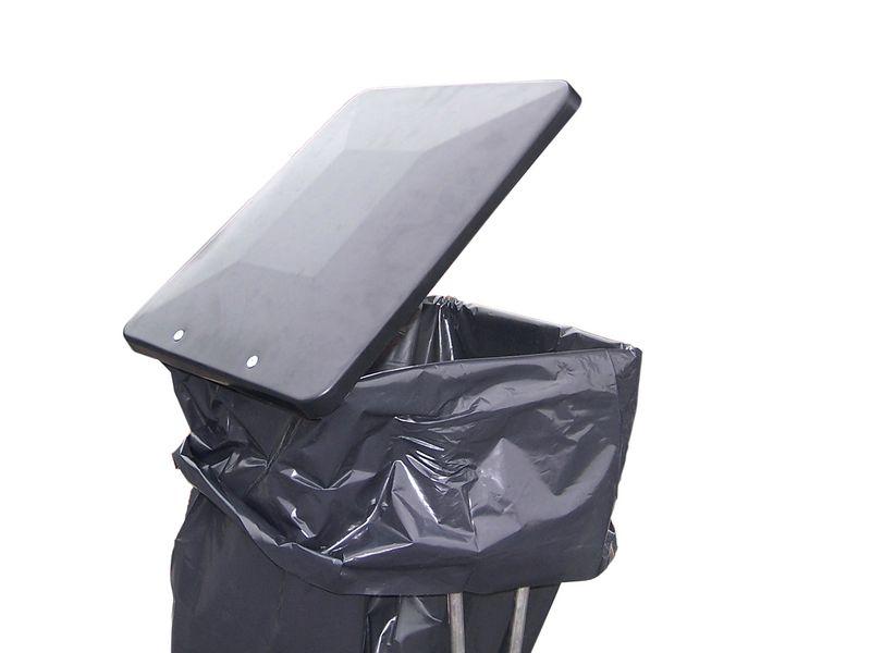 Couvercle plastique pour support de sacs 110 l (photo)
