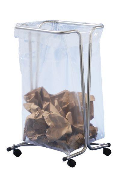 Support de sac poubelle 110 l avec roulettes