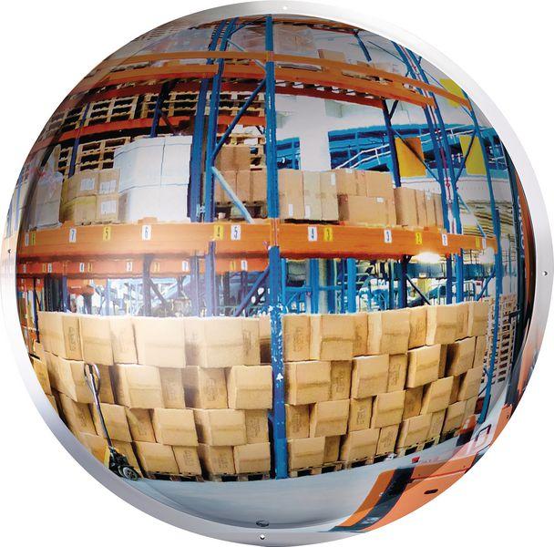 Miroir 1/2 sphère verticale (photo)