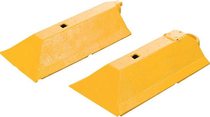 Séparateurs de voies jaunes/noirs (photo)
