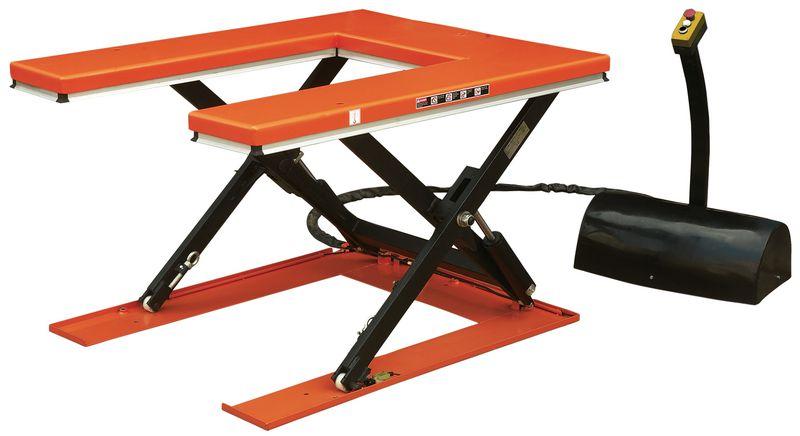 Table élévatrice fixe en U capacité 1000 kg