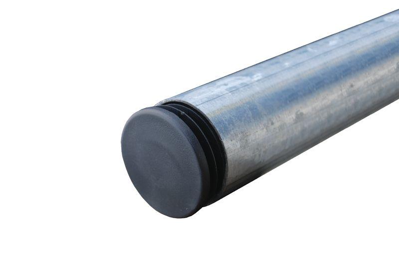 Poteaux galvanisés Ø 60 mm avec obturateur plastique (photo)