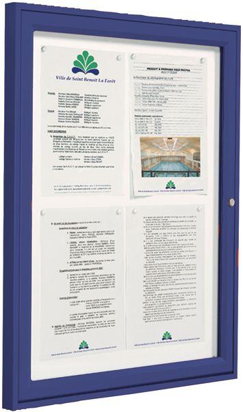 Vitrine «Référence» format A4 cadre couleur (photo)
