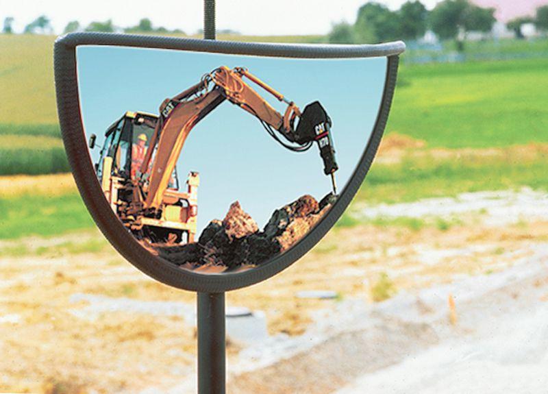 Rétroviseur pour engins de travaux publics