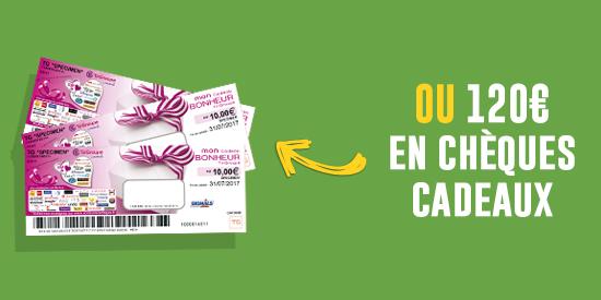 120 euros de chèque cadeaux