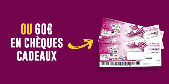 60 euros de chèques cadeaux