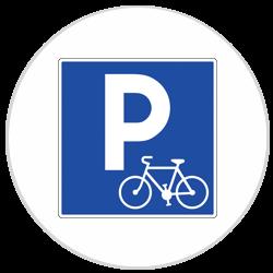 Panneau PVC Parking vélo