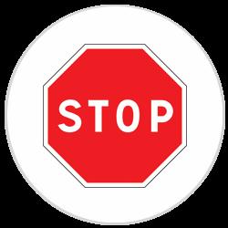 Panneau Aluminium Stop