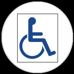 Pochoirs Handicapé polypropylène pour marquage parking