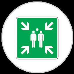 Panneau 1ers secours Point de rassemblement