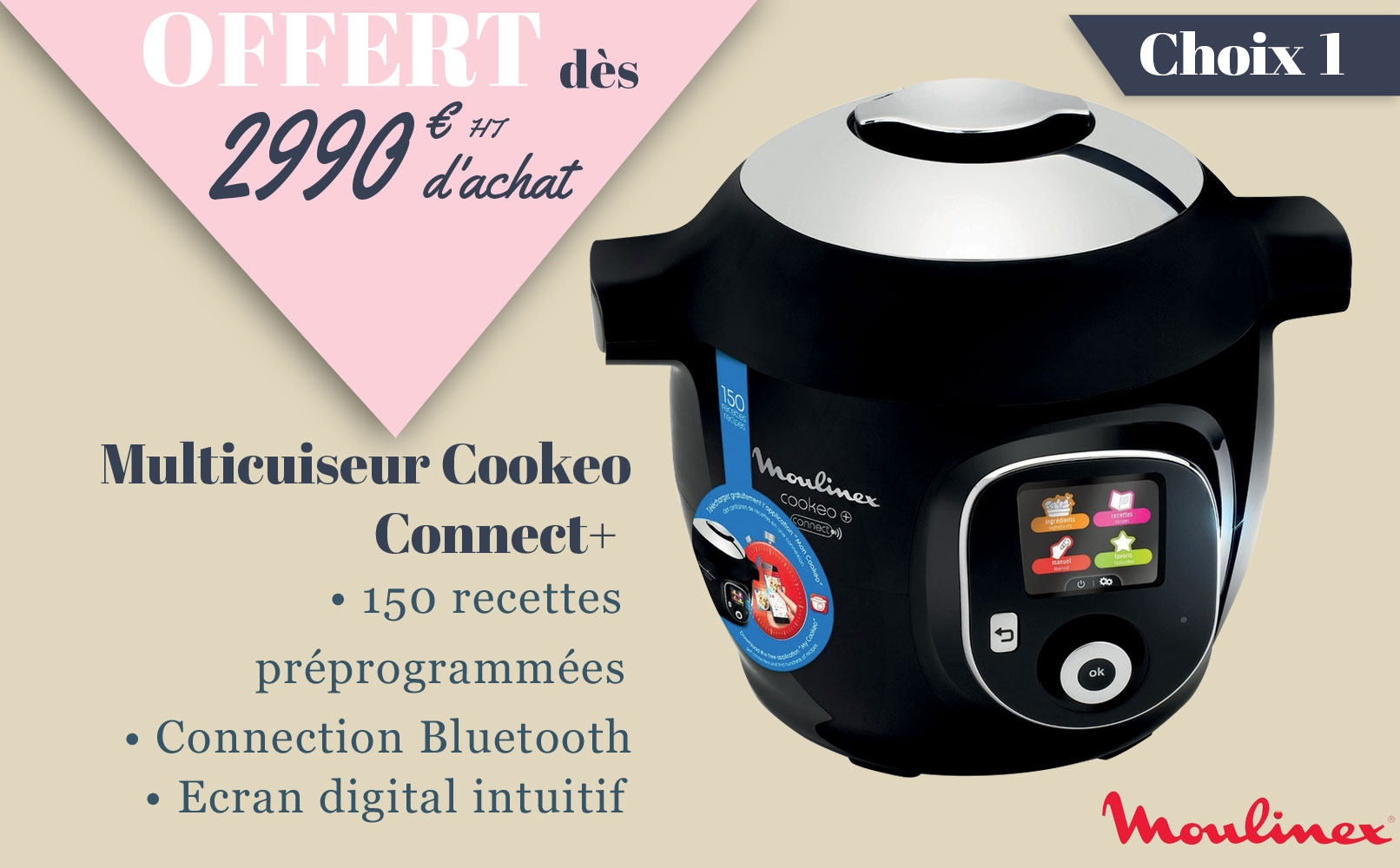 Multicuiseur Cookeo Connect +