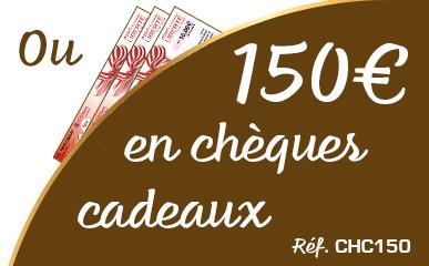150 € en chèques cadeaux