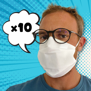 Masque 4 couches tissu catégorie 1