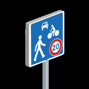Panneau Alu             Aire de rencontre 20 KM/H
