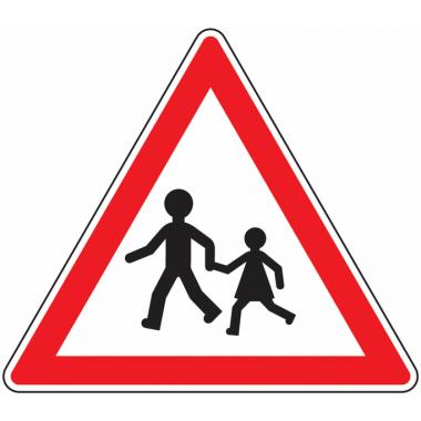 Panneau Europ Endroit fréquenté par les enfants
