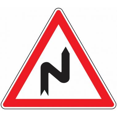 Panneau Europ Succession de virages à droite