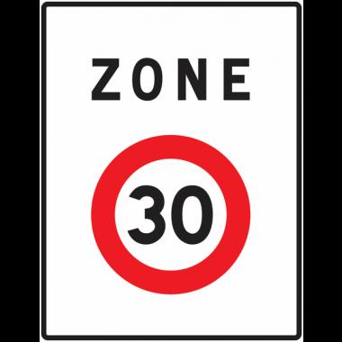 Panneau Europ Entrée de zone vitesse limitée