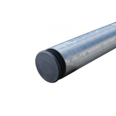 Poteaux galvanisés Ø 50 mm avec obturateur plastique'