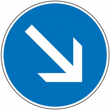 Panneau Galva Sens Obligatoire Classe 1 ou 2