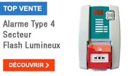 TOP VENTE - Alarme Type 4 Secteur Flash Lumineux