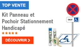 TOP VENTE - Kit Panneau et Pochoir Stationnement Handicapé