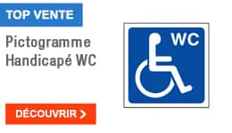 TOP VENTE - Pictogramme Handicapé WC
