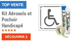 TOP VENTE - Kit Aérosols et Pochoir Handicapé