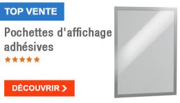TOP VENTE - Pochettes d'affichage adhésives