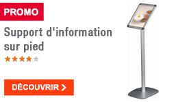 PROMO - Support d'information sur pied