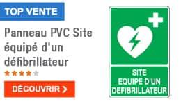 TOP VENTE - Panneau PVC Site équipé d'un défibrillateur