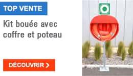 TOP VENTE - Kit bouée avec coffre et poteau