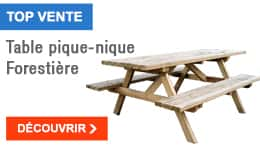 TOP VENTE - Table pique-nique Forestière