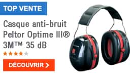 TOP VENTE - Casque anti-bruit Peltor Optime III® 3M™ 35 dB
